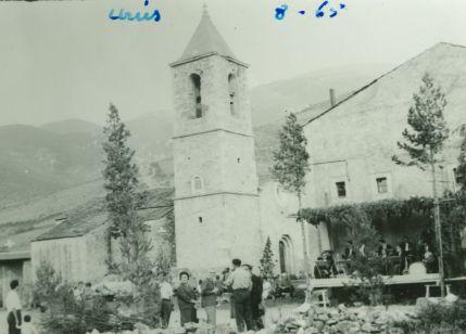Festa major. Urús. agost 1965. Plaça del poble